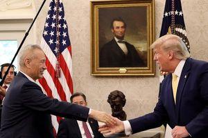 Hình ảnh lễ ký thỏa thuận thương mại Mỹ-Trung giai đoạn một