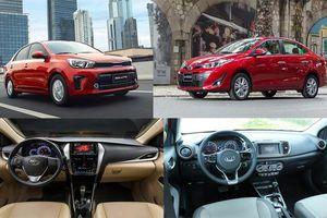 Xe sedan hạng B: Mua Toyota Vios hay KIA Soluto chơi Tết 2020?