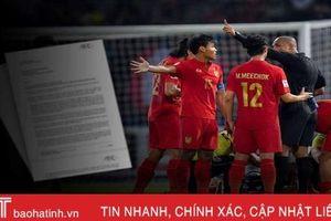 AFC trả lời khiếu nại sự 'bất thường' trọng tài dẫn đến U.23 Thái Lan bị loại