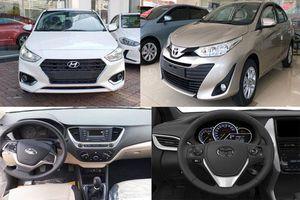 So sánh Toyota Vios 1.5E MT 2020 với Hyundai Accent 1.4MT Base: Chọn xe giá rẻ nào?