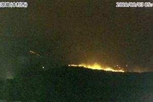 Núi lửa Shindake tại Nhật Bản phun trào