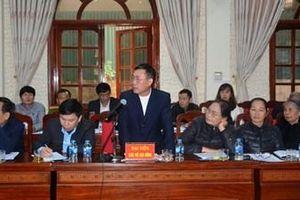 Thường trực Tỉnh ủy Điện Biên đối thoại với nhân dân về dự án đường 60m và hạ tầng kỹ thuật khung