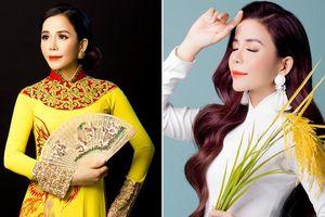 Oanh Lê khoe dáng với áo dài sau khi đăng quang Mrs International World 2019