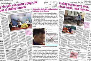 Dịch Corona: Đừng vì tin giả gánh hậu quả thật