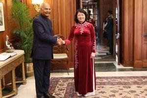 Phó Chủ tịch nước hội kiến Tổng thống Ấn Độ