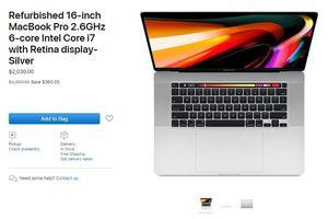 MacBook Pro 16 inch mới đã có hàng tân trang, giá từ 2.039 USD