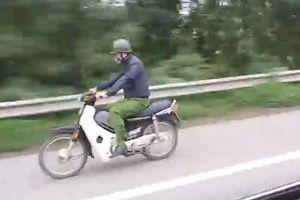 Người mặc trang phục giống cảnh sát phóng xe máy trên cao tốc vi phạm thế nào?