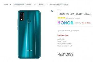 Rò rỉ thông số kỹ thuật và giá bán Honor 9X Lite