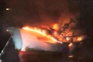 2 người Hà Tĩnh mất tích trong vụ cháy tàu cá Hàn Quốc