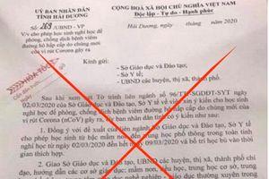 Đăng văn bản giả mạo Hải Dương cho nghỉ học, người phụ nữ bị phạt 12,5 triệu đồng