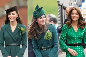 13 lần Kate Middleton mặc màu xanh lá cây để vinh danh văn hóa Ireland