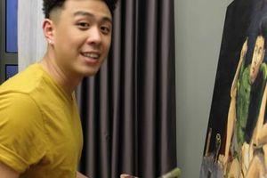 Huyme chia sẻ mùa dịch ở nhà vẽ tranh làm điều bổ ích, ô hay nhưng anh vẽ Hàn Hằng đấy à?