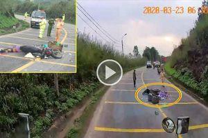 Hiện trường TNGT ở Quảng Ninh khiến người phụ nữ tử vong thương tâm