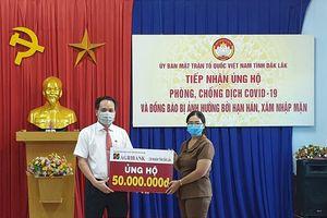 Đắk Lắk: Ủng hộ tiền, thực phẩm thiết yếu cho dân