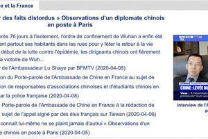 Pháp triệu Đại sứ Trung Quốc để phản đối truyền thông về Covid-19