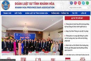 Ra mắt trang web Đoàn Luật sư tỉnh Khánh Hòa
