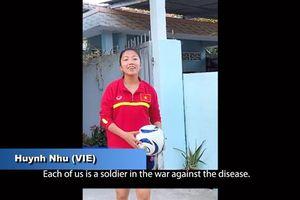 Nhiều sao tuyển bóng đá Việt Nam tham gia cùng AFC tuyên truyền phòng, chống Covid-19