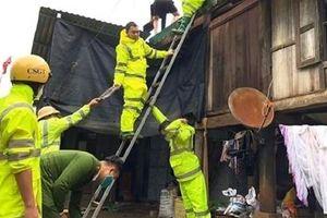 Lực lượng Công an chủ động ứng phó, khắc phục hậu quả mưa giông, lốc, sét, mưa đá