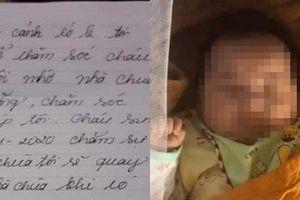 Xót xa bé trai bị bỏ rơi tại chùa giữa đêm kèm lá thư tay viết vội