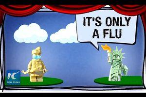 Đại sứ quán TQ gây sốt với đoạn video mỉa mai cách Mỹ phòng dịch: 'Chỉ là cúm thôi mà'