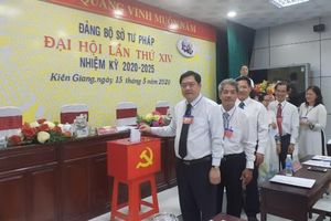 Đảng bộ Sở Tư pháp Kiên Giang tổ chức thành công Đại hội lần thứ XIV, nhiệm kỳ 2020-2025