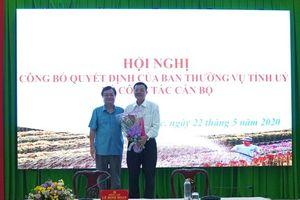 Điều động, bổ nhiệm đồng chí Lê Hồng Tho giữ chức Phó Trưởng Ban Tổ chức Tỉnh ủy