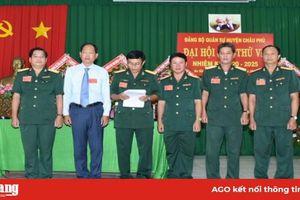 Đại hội Đảng bộ Quân sự huyện Châu Phú diễn ra thành công