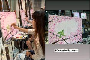 Bạn gái Đặng Văn Lâm khoe tài hội họa, dân mạng khen hết lời