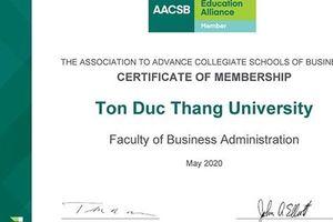 Một khoa của Trường ĐH Tôn Đức Thắng được công nhận thành viên AACSB