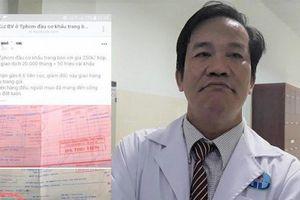 Đầu cơ khẩu trang mùa Covid-19, Giám đốc Bệnh viện Gò Vấp bị cách chức