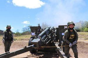 Mục kích nữ pháo binh Philippines nã đạn M101 cỡ nòng 105mm