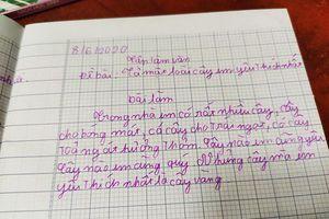 Chết cười với bài văn tả cây của học sinh tiểu học, cô giáo cũng không ngờ 'bẻ lái' gắt đến thế