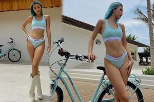 Giữa nghi vấn có bạn trai, Quỳnh Anh Shyn tung ảnh mặc nội y đạp xe gây 'bão'