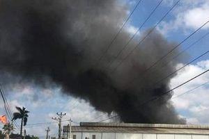 Hải Phòng: Cháy lớn tại công ty giày da