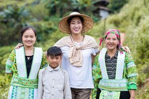 Hoa hậu Lương Thùy Linh hoàn thành vai trò 'sứ giả' nhân ái 'Đắp đường xây ước mơ'