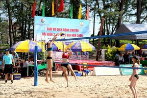Khởi tranh Giải vô địch bóng chuyền bãi biển quốc gia năm 2020