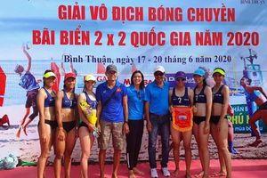 3 đội nữ Cần Thơ dự Giải vô địch Bóng chuyền bãi biển 2x2 quốc gia năm 2020