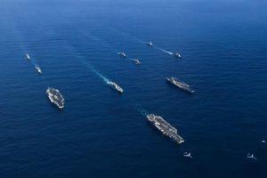 Hai tàu sân bay Mỹ diễn tập chung sát Biển Đông