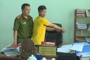 Bắt đối tượng đột nhập UBND xã trộm tài sản