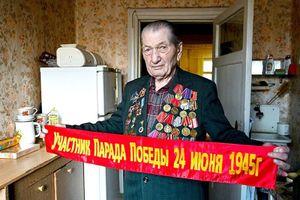 Người tham gia duyệt binh Chiến thắng 75 năm trước có mặt tại Quảng trường Đỏ