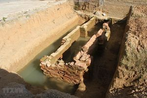 Ninh Bình: Phát hiện kiến trúc mộ gạch tại sân trường tiểu học