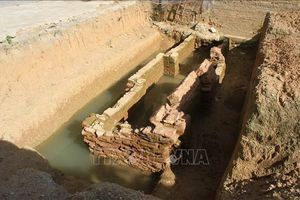 Phát hiện kiến trúc mộ gạch cổ tại sân trường tiểu học ở Ninh Bình