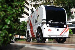 Ngành y tế Thái Lan thử nghiệm xe điện không người lái 5G