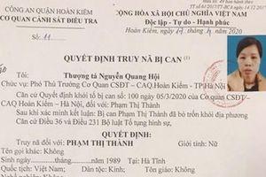 Hà Nội: Người phụ nữ bỏ con dưới hố gas đang bị truy nã về hành vi trộm cắp tài sản