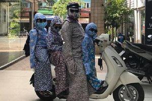 Cười té ghế với thời trang chống nắng 'khó đỡ' của 'biệt đội Ninja Lead'