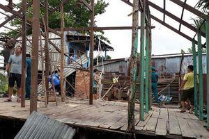 11 hộ dân phải di dời vì sông Hậu tiếp tục sạt lở