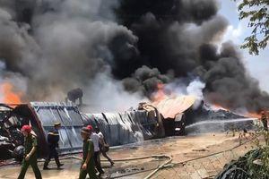 Thanh Hóa: Cháy dữ dội tại Khu công nghiệp Tây Bắc Ga