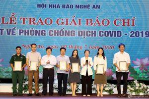 Trao giải Cuộc thi Báo chí Nghệ An với 'Phòng, chống dịch Covid-19'