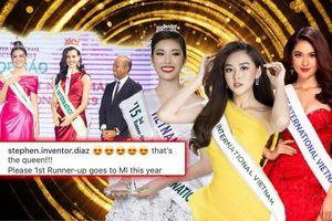 Mê mệt Tường San, ê-kip Hoa hậu Quốc tế nhắc khéo: 'Lần sau, phải gửi Á hậu 1 sang Nhật Bản nhé'