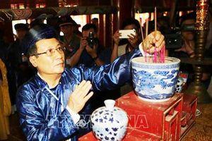 Khánh thành Đền tưởng niệm và lễ rước long vị Vua Hàm Nghi